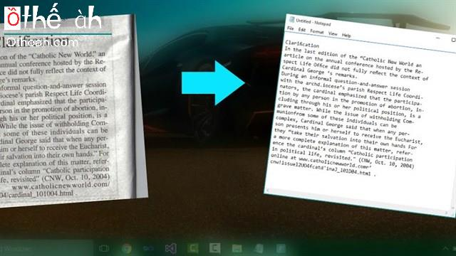 Hướng dẫn cách copy mọi đoạn văn bản từ trong bức ảnh một cách dễ dàng và nhanh chóng chỉ với một cú click chuột